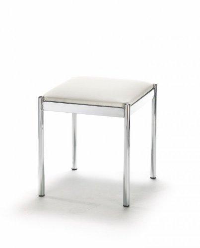 Mayer Sitzmöbel Hocker 1165 Gestell chrom Sitz quadratisch gepolstert Bezug Stoff oder Kunstleder Bezug Kunstleder 26465