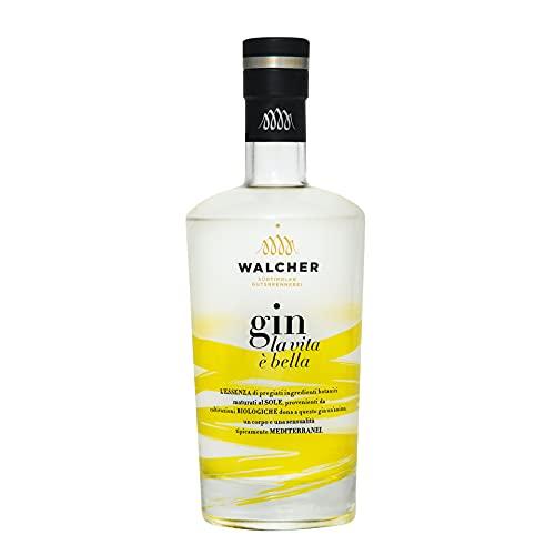 """Walcher Dry Gin""""LA VITA È BELLA"""" (1x 0,70l) - Gin italiano - Note fresche di limone e mandarino, sapore della natura"""