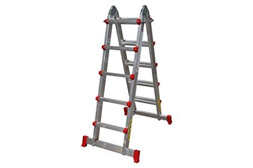 Cofan 09401071 Escalera multiposición con 4x5 peldaños, 0.011 V, 4,83 m