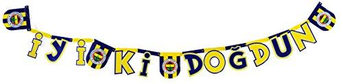 Fenerbahce Istanbul Kinder Geburtstagsfeier Banner Flagge Iyiki Dogdun