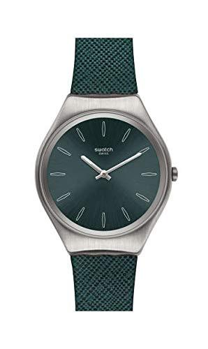 Swatch Reloj Analógico para Mujer de Cuarzo Suizo con Correa en Cuero Genuino SYXS121