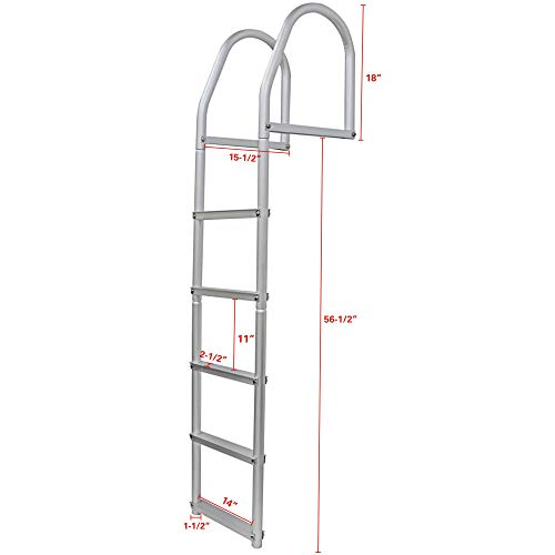 Extreme Max 3005.4108 Weld-Free Fixed Dock Ladder - 5-Step