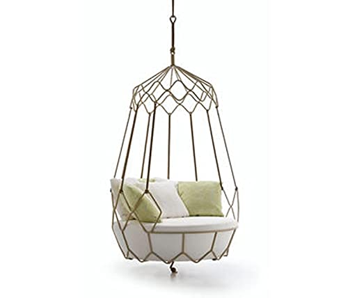 wenyi Hanging Chair, Landscape Chair, American Country Style, Hanging Basket, Cradle Chair, Backyard Furniture, Hammock, Coffee Table, Multi-Style Support Customization (Color : Hanging style)