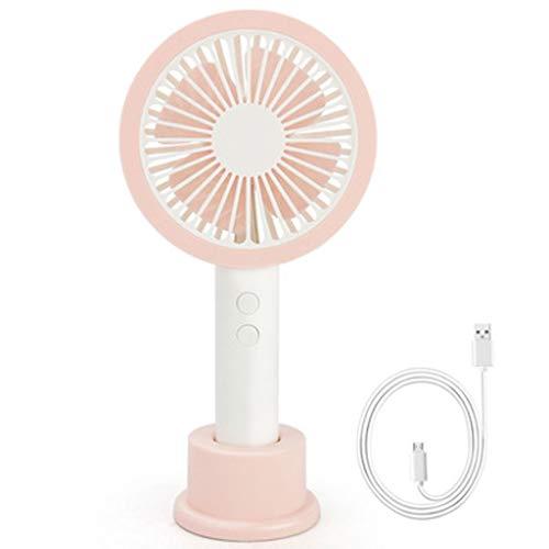RSTO Mini Ventilatore, la Carica del Tavolo Muto Lanterna Portatile Ventilatore Tenuto in Mano (con Batteria Ricaricabile 1200mAh) Ventilatori USB (Color : Green)