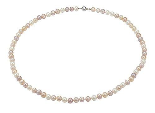 Pearl Dreams Juego de joyas para mujer con collar y pulsera de plata 925 rodiada - PD40