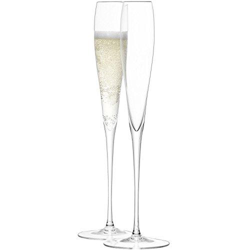 LSA International Wine Grandes flûtes à Champagne 100 ML, Transparent (Lot de 2)