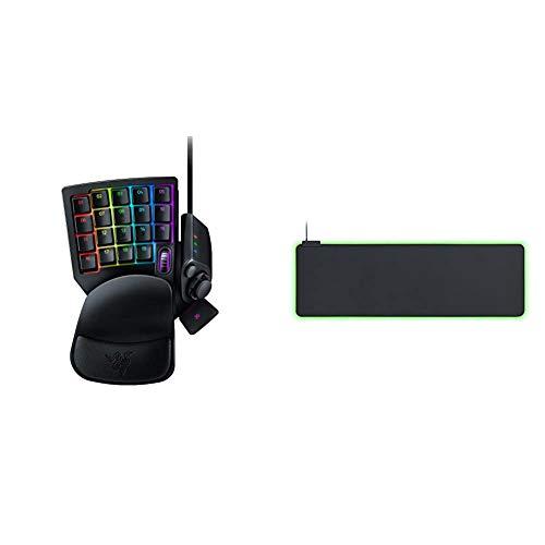 Razer Tartarus V2 Gaming Keypad Gamepad mit Mecha membranen Tasten 32 programmierbare Tasten Goliathus Extended Chroma Extra grose weiche XXL Gaming Maus Matte mit RGB Beleuchtung Schwarz