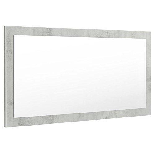 Vladon Spiegel Wandspiegel Lima 110cm in Beton Oxid Optik