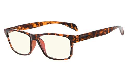 Eyekepper UV-Schutz der Leser,Blendschutzbrillen,Anti Blau Strahlen,Frühlingsgelenke Computer Lesebrille(+0.00, 090 Schildkröte)