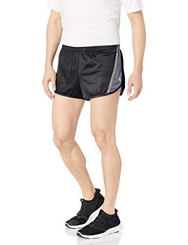 Soffe Men's Ultra Marathon Short, Black/Dark Steel, Large