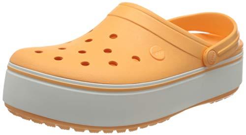 Crocs Unisex-Erwachsene Crocband Platform Clogs, Orange (Cantaloupe/White 82s), 38/39 EU
