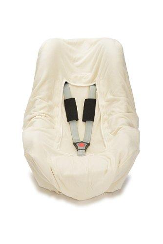 HOPPEDIZ® Einschlagdecke NATUR aus Baumwoll-Frottee (GOTS) für 3 & 5 Punkt Gurtsysteme