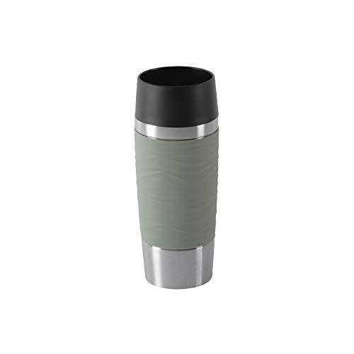 Emsa N2010800 Travel Mug Waves Isolierbecher, Thermobecher, 0,36 L, Grau