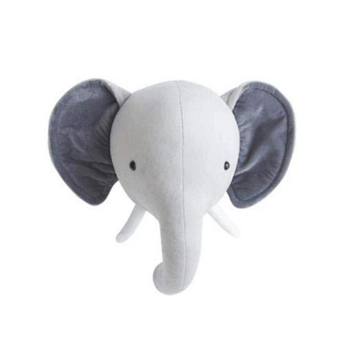 Ntribut Animal Wall Decoration Wall Mounted Soft Toy Deer/Bear/Elephant Head As A Wall Decoration In Children Rooms