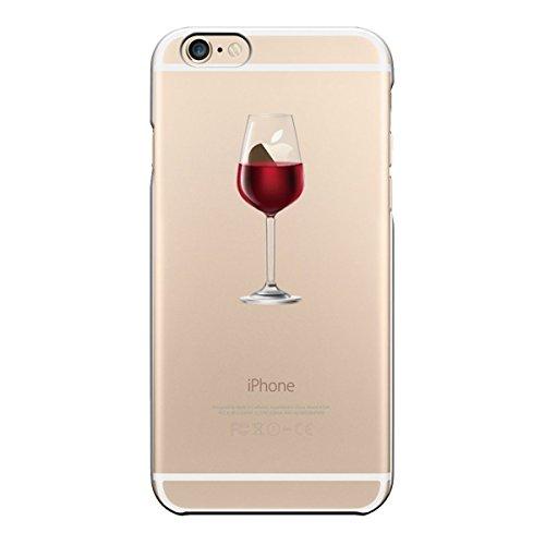 iPhone 6S/6 Hülle Caler® Weiche flexible Silikon-Handy-Hülle Transparente Ultra Slim TPU dünne stoßfeste mit Motiv Rundum-schutz Tasche Etui Schutzhülle Case Cover(Rotwein)