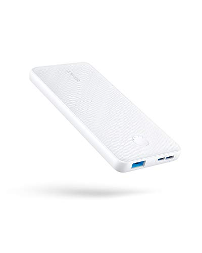 Anker Portable Charger, PowerCore Slim 10000 Power Bank, 10000mAh Battery Pack, High-Speed PowerIQ Charging Technology for iPhone, Samsung Galaxy, and More (White)
