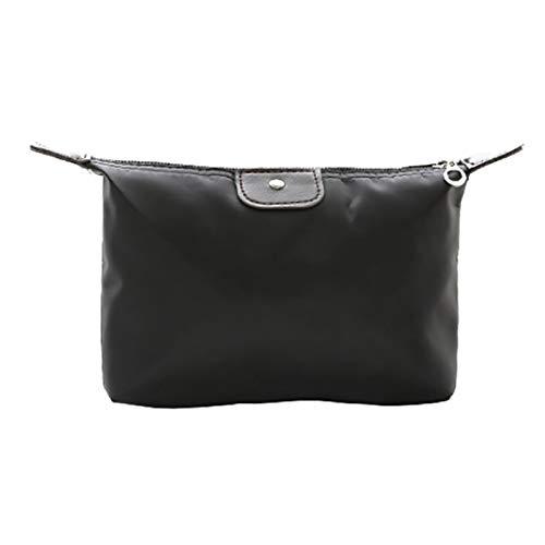 「大特価」女性化粧品 レディース ポーチ 人気 化粧品袋大容量防水 化粧品袋収納バッグ(ブラック )