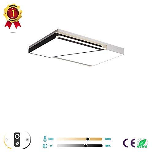 ZZOOK Led-plafondlampen, rond, vierkant, geometrisch, acryl, beugelen, geschikt voor woonkamer, deuren, bureau, binnenverlichting