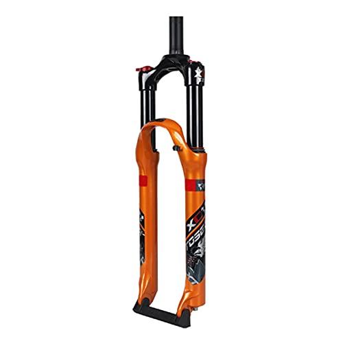 UPPVTE Suspensión De Aire Tenedor, Disco Freno 26/27,5 Pulgadas Recorrido 120mm Horquilla De Aire MTB, Control De Hombro Tubo Recto Accesorios Bicicleta (Color : Orange, Size : 26inch)