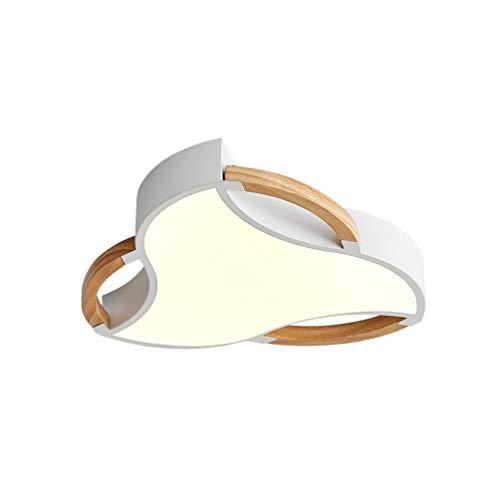 LED Modern Deckenleuchte Dimmbar mit Fernbedienung Holz Deco Lampe, Kreative Kronleuchter Acryl Deckenlampe Metal Deckenstrahler für Esszimmer Wohnzimmer Schlafzimmer Bad Küche Licht Ø40*H6cm