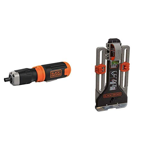 BLACK+DECKER Cordless Screwdriver with MarkIT Picture Hanging Tool Kit (BCF601AA & BDMKIT101C)