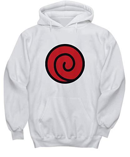 Candid Awe - Uzumaki Clan - Anime, Naruto - Unisex Hoodie (x-Large) White