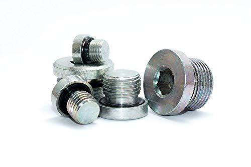 Verschlussschrauben mit Feingewinde und NBR Dichtung in Verzinktem Stahl 2 Stück M10x1
