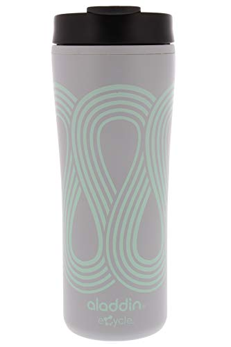 Aladdin eCycle Coffee Travel Mug, 16oz Tumbler with Leakproof Lid – An Ideal Recycled and Recyclable Travel Coffee Mug, Take Your Drink on the Go –Insulated Coffee Mug Fits in Cupholder, Seafoam Green