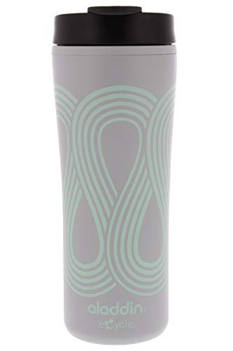 Aladdin eCycle Kaffeebecher, 473 ml, mit auslaufsicherem Deckel, ideal recycelter und recycelbarer Reise-Kaffeetasse, ideal für unterwegs, isolierte Kaffeetasse, passt in Becherhalter, Seafoam Green