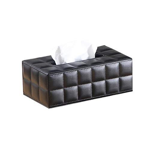 XMYNB Caja De Pañuelos Simple PU Caja De Tejido Rectángulo Toalla De Papel Toalla De Toalla De Escritorio Servilleador De Almacenamiento Cocina Bandeja De Tejido para Oficina En Casa