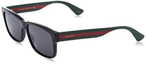 Gucci Unisex – Erwachsene GG0340S-006-58 Sonnenbrille, Schwarz (Negro/Multicolor), 58