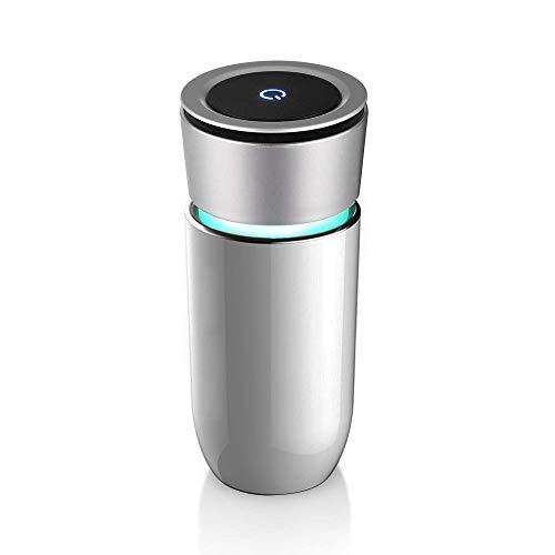 Purificador de aire para automóvil, Portátil Mini Purificador y ionizador para Coche, Ambientador, Puerto de Carga USB, Eliminar Alergias, Humo, Moho, Polvo y Gérmenes