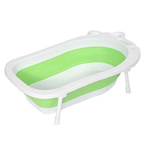 Cocoarm Faltbare Baby Badewanne Tragbare Duschwanne Ergonomische Babybadewanne mit Ablaufstöpsel Badezubehör für Neugeborenen oder Kleinkind