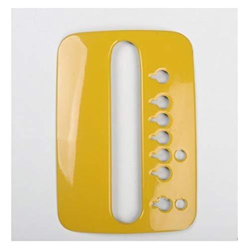CMQA Cubierta para consola central de coche, color amarillo, para el desgaste de la puerta, placa de cambio de marchas para Volkswagen Beetle 2003 – 2012 (tamaño: A)