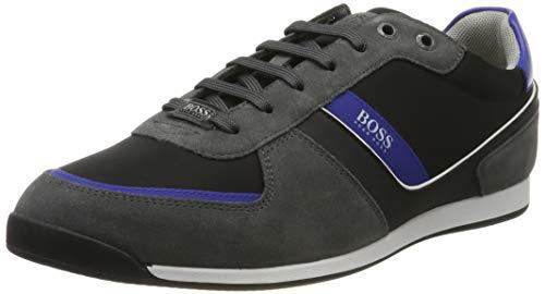 BOSS Herren Glaze_Lowp_nysd Sneaker, Grau (Dark Grey 21), 39 EU