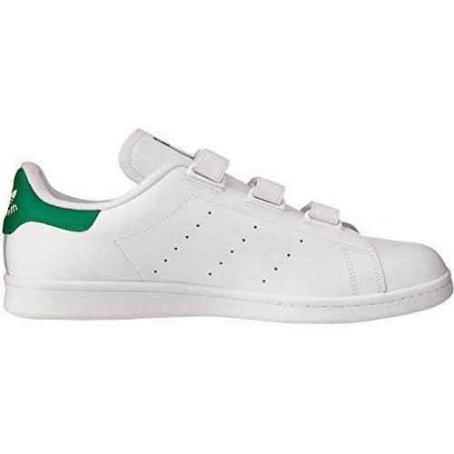 adidas Stan Smith CF, Scarpe da Fitness Uomo, Bianco (Ftwbla/Verde 000), 38 2/3 EU