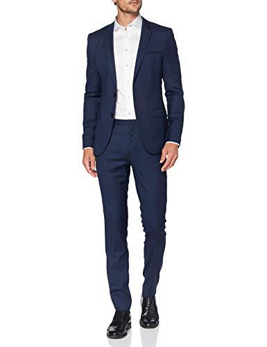 HUGO Arti/Hesten204 Suit - Conjunto de Vestido, Azul Oscuro (405), 56 para Hombre