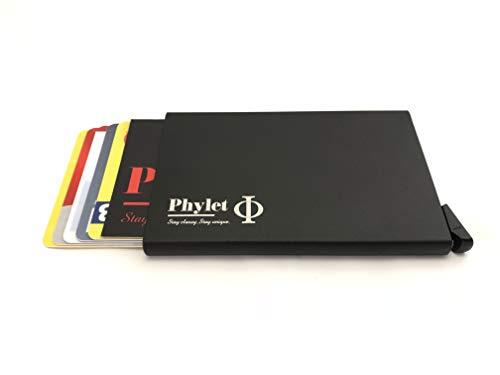 Produkt: Multifunctional Cardholder | Model: GER | Marke: Phylet | Beschreibung: Verblüffend moderner Kartenhalter | sehr schmal | durchdachte Technik auswählbare Farben (Schwarz)