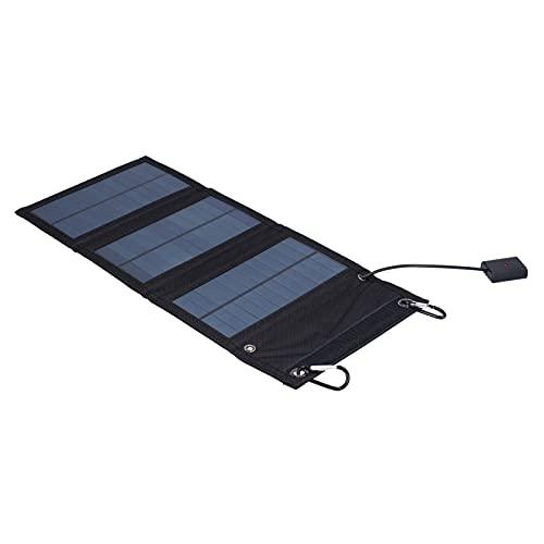 01 Panel Solar USB, Paneles solares portátiles Cargador de Panel Solar Cargador de células solares monocristalinas para Acampar, Escalar, IR de excursión, Hacer picnics