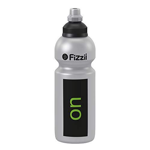 Fizzii Kinder- und Freizeittrinkflasche 600 ml (auslaufsicher bei Kohlensäure, schadstofffrei, spülmaschinenfest, Motiv: On-Off)