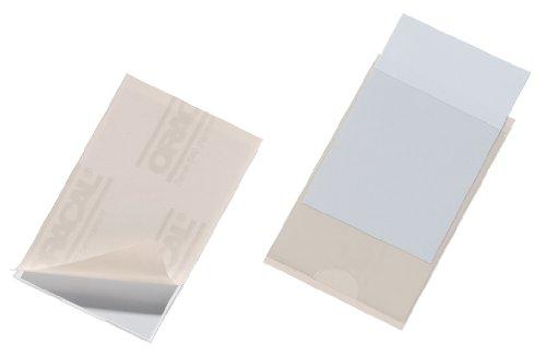 Durable 807919 Selbstklebetasche Pocketfix für Einsteckschilder 57 x 90 mm, 10 Stück, transparent