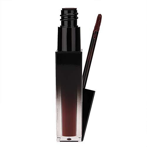 Lipgloss, lang anhaltende feuchtigkeitsspendende Flüssigkeit Matte Lipstick Dark Brown Series 5.7ml(fünfzehn#)