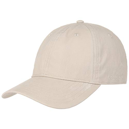 Stetson Ducor Sun Guard Fullcap Herren - Baseballcap aus Bio-Baumwolle (nachhaltig) - Frühjahr/Sommer - Cap mit Sonnenschutz UV 40+ - Basecap Stonewashed-Look - Outdoorcap beige XXL (62-63 cm)