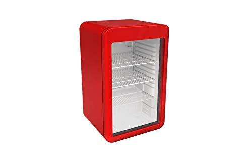Minibarkühlschrank - 113 Liter - mit 1 Glastür - Rot