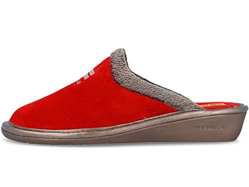 Zapatillas de casa en ante rojo (38)