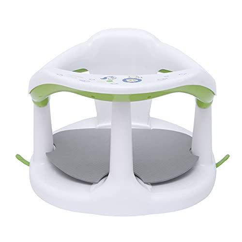 SUNJULY Cute Baby Bath Seats, Newborn Infant Baby Soft Bath Seat, Anti-Slip Baby Bath Chair Baby Shower Helper for Bathtub Provides Backrest, Surround Bathroom Seats for Babys 0-3 Years Old