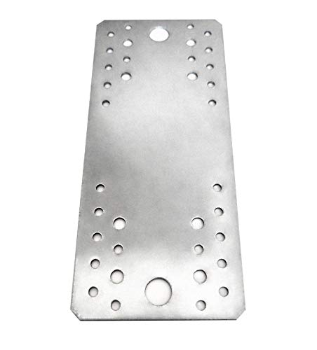 10 piezas placa de unión plana galvanizada, 210 x 90 x 2 mm