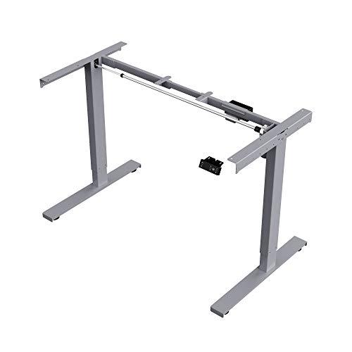 ERGOSPOT® ES1S - Elektrisch stufenlos höhenverstellbarer Schreibtisch mit Memory-Funktion sowie...