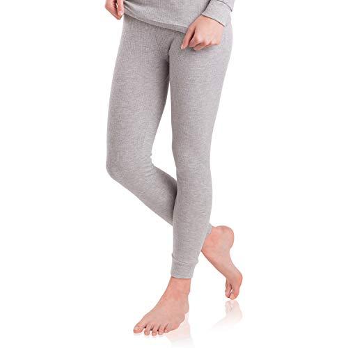 MT Damen Ski- & Thermohose - warme Unterwäsche lang mit Innenfleece - Sports Grey M