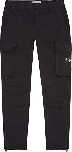Calvin Klein Jeans Skinny Washed Cargo Pant Pantalones, CK Negro, 32W Short para Hombre